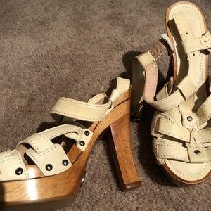 Frye Platform Wooden Heels